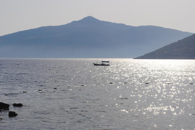 La bahía justo en frente de la villa.
