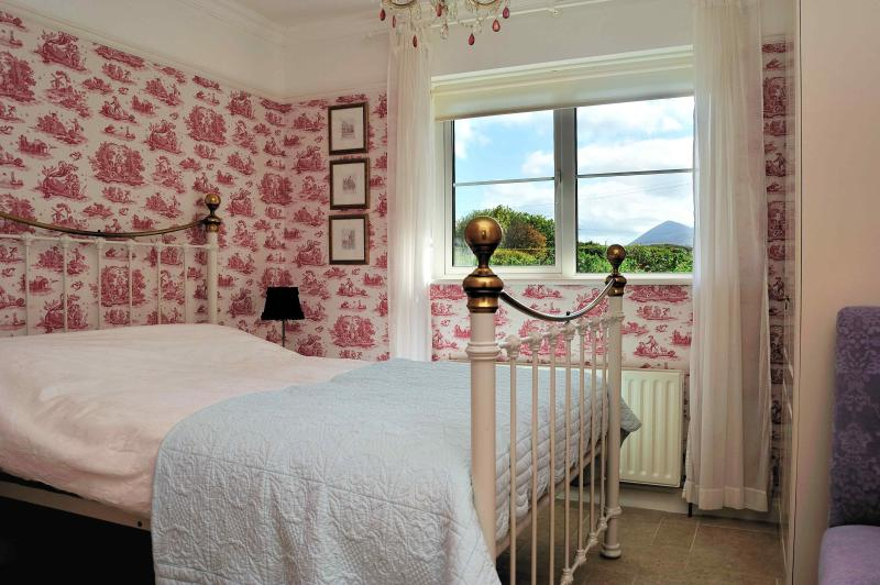 Bedroom 2 - double - downstairs - with view of Croagh Patrick