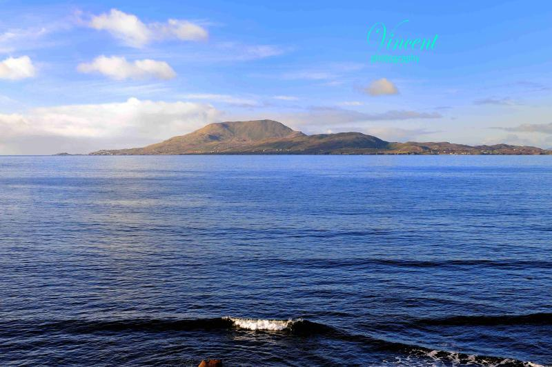 View of Clare Island - only 5 minutes walk from house