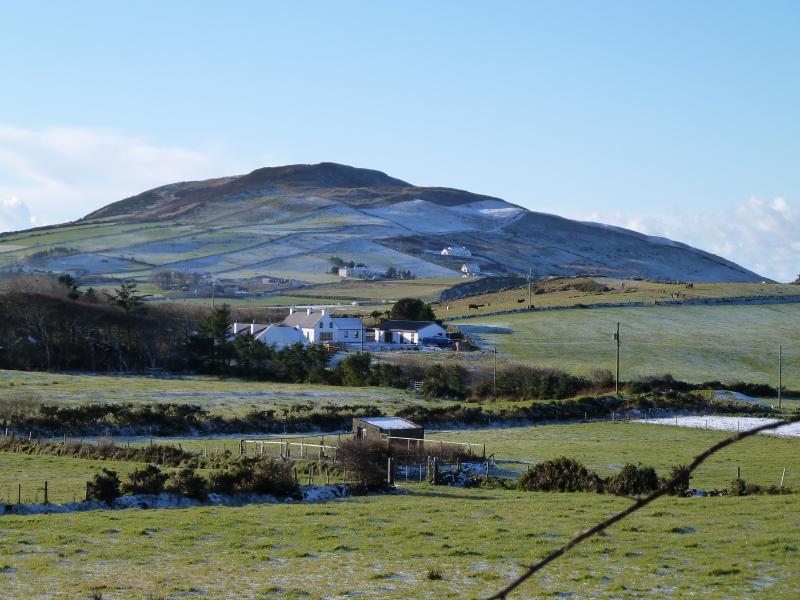 Uitzicht op het omringende platteland in de buurt van cottage