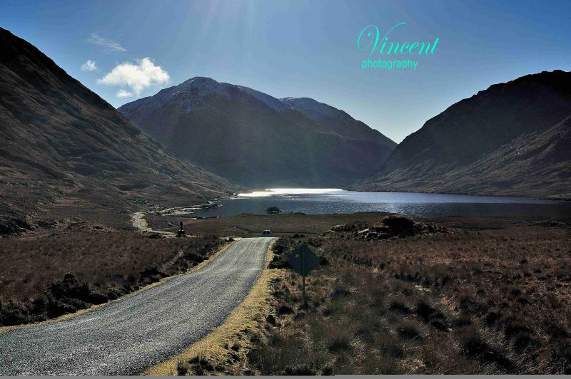 Magnificant scenic drive to Doolough
