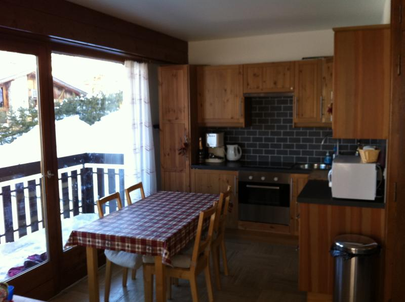 Kitchen and Dining area equipped with dishwasher, fridge & freezebox, oven ,hob and microwave.