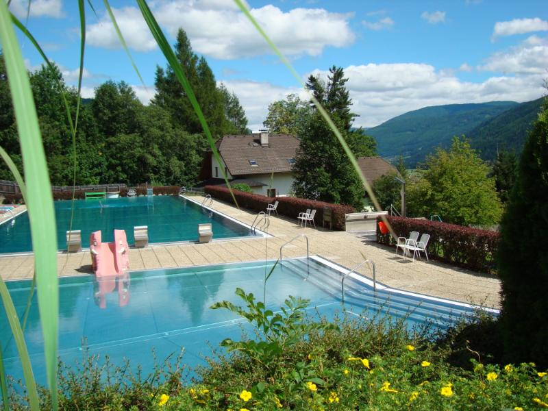 St Michael's fabulous outdoor pool set into the mountains