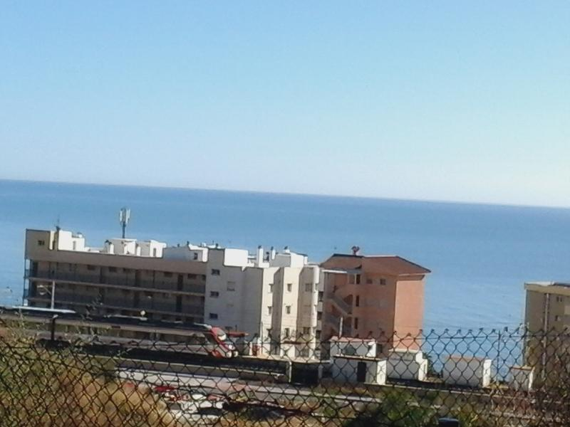 Sea view from terrace to Carvajal train station 3 minutes walking distance from the apartment.