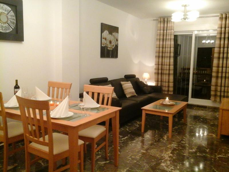 Lounge and dining room.
