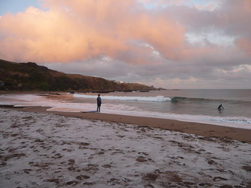 Surfing lessons are available on Coldingham Bay even in Winter!