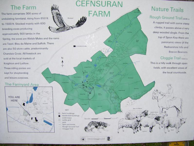 Cefnsuran farm map to help you explore