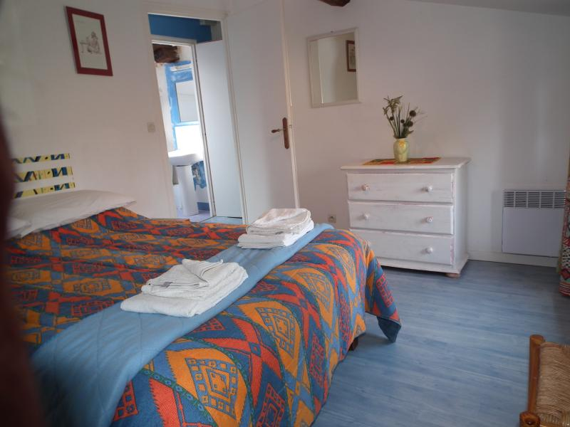double bedroom, new mattress, hanging space and chest of drawers. Window looks on to garden.