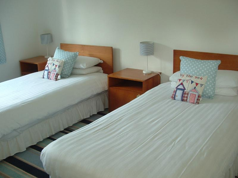 Twin bedroom - newly redecorated and refurbished.