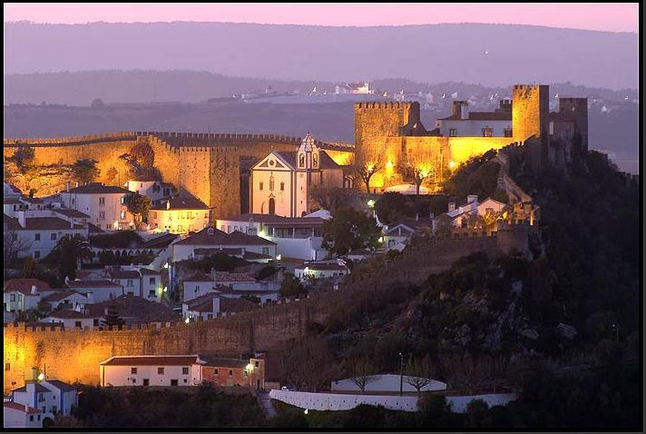 The wonderful charming Obidos castle 10min walk from villa