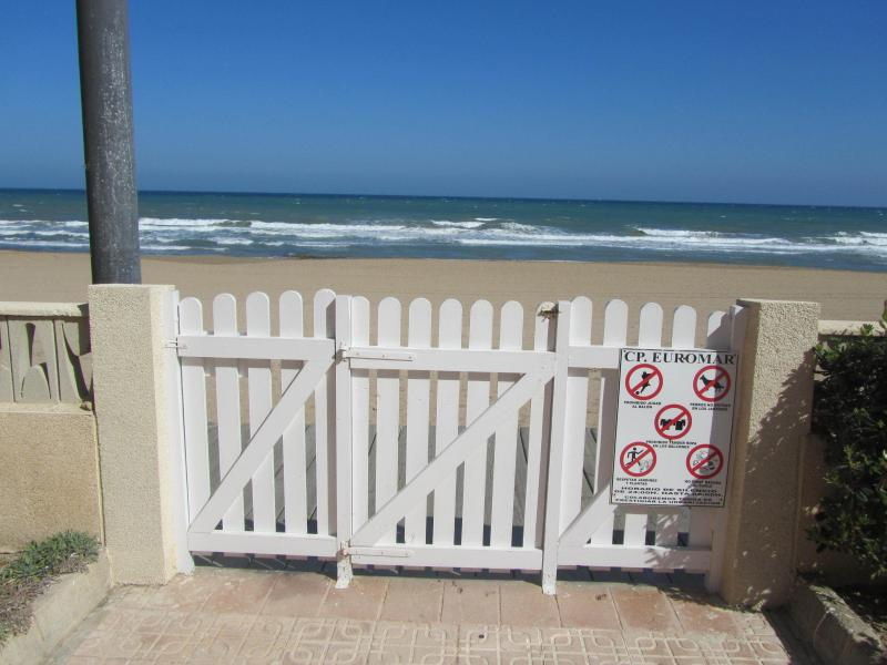 Private gate on to the beach.