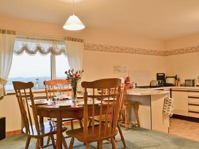 Split level dining area