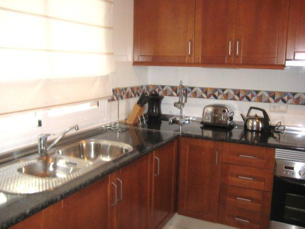fully fitted kitchen with dishwasher, microwave, fridge frezzer.