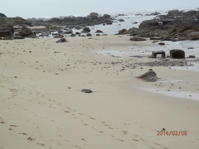 plage des chardons bleus a 150 mètres de la location