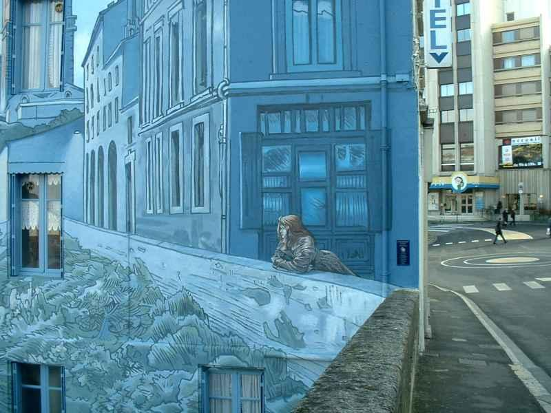 Angouleme murals abound. City of Comics  festival in January