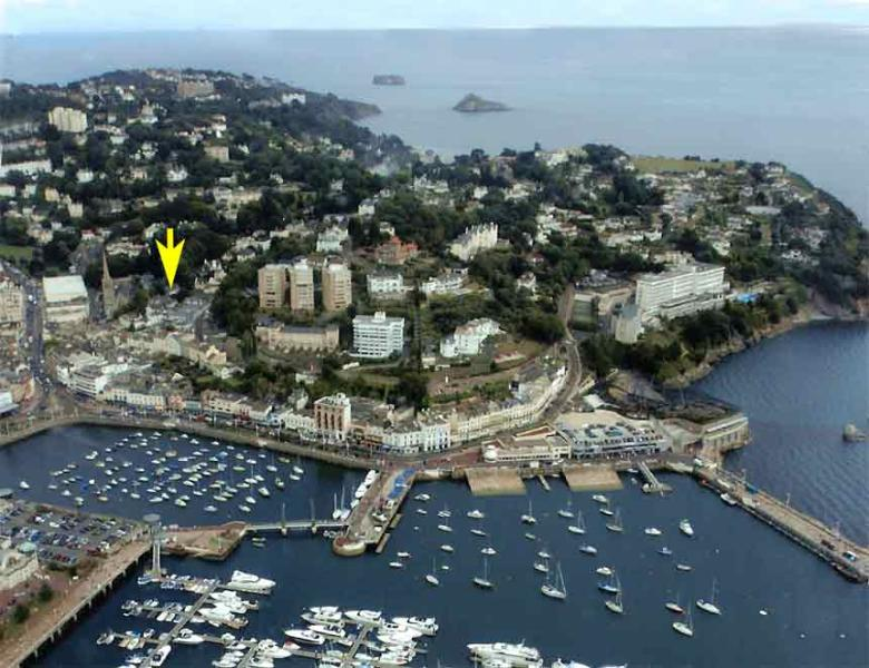 Position of St Christophers in Torquay