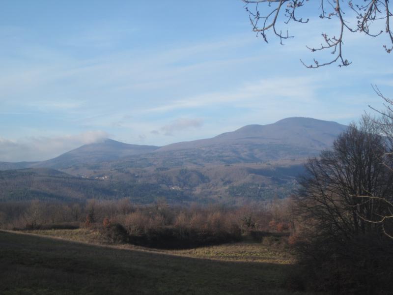 Vista dal Casale: Monte Amiata