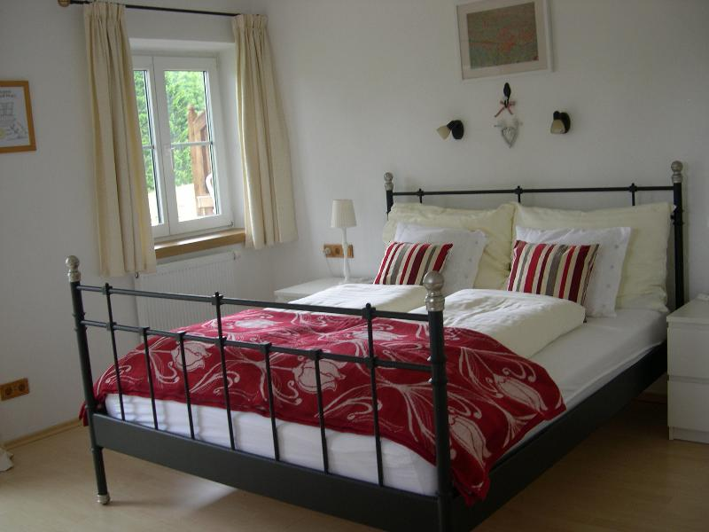 Edelweiss bedroom, has access to the private balcony