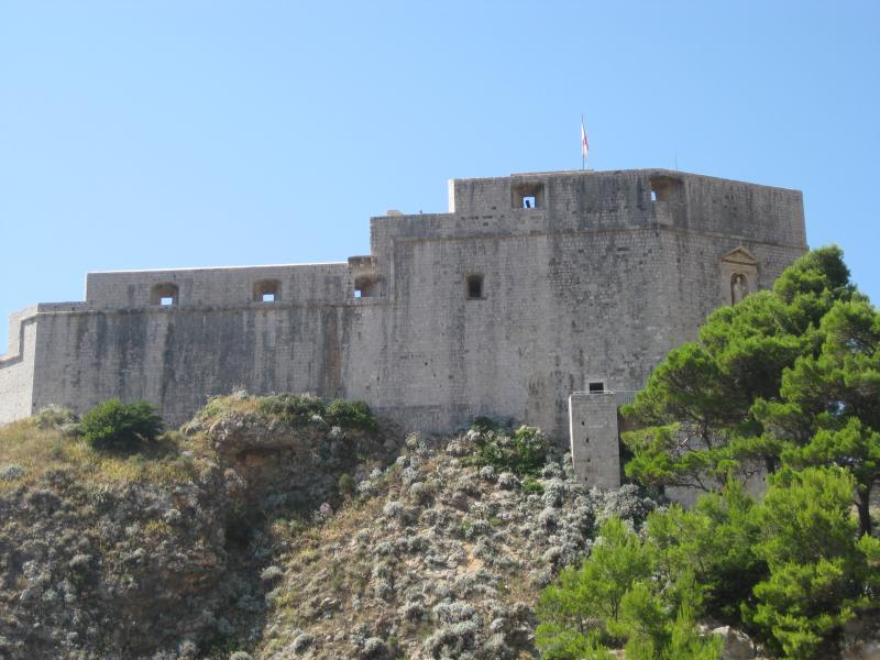 the fort of Lovrijenac (often used as a stage for Hamlet)