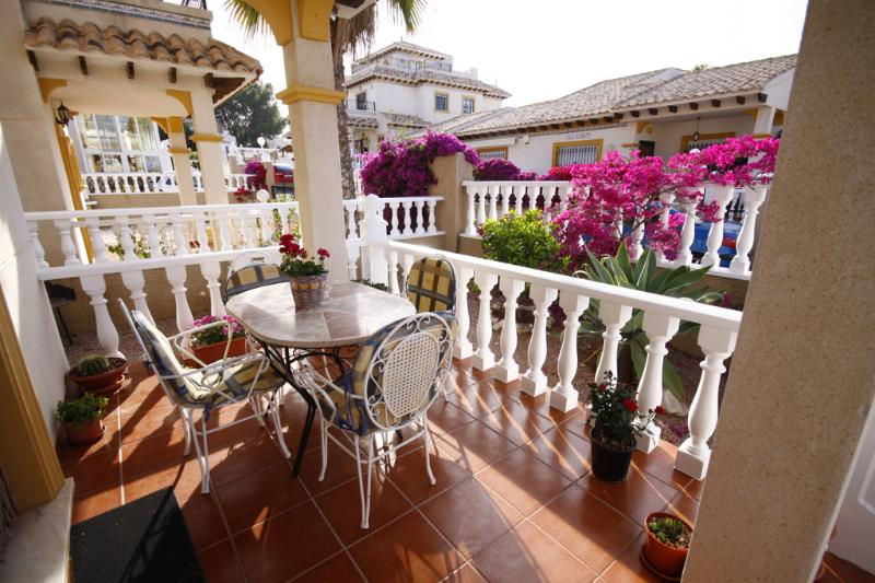 The front Terrace is also furnished with a dining table and 4 chairs, various plants and herbs, perf