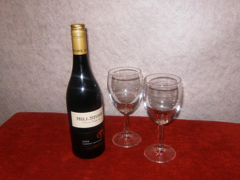 Complimentary wine on arrival