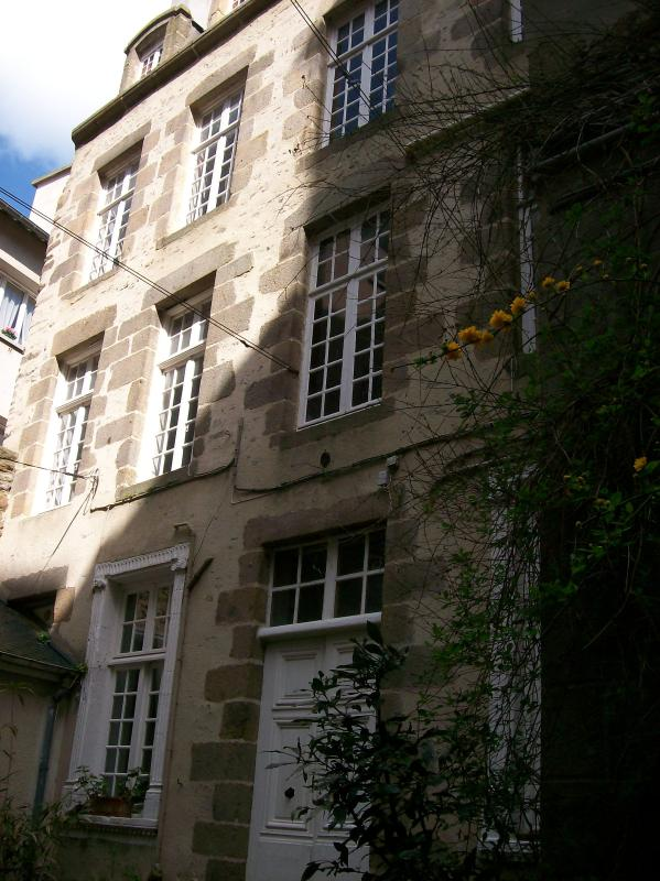 The apartment is west facing