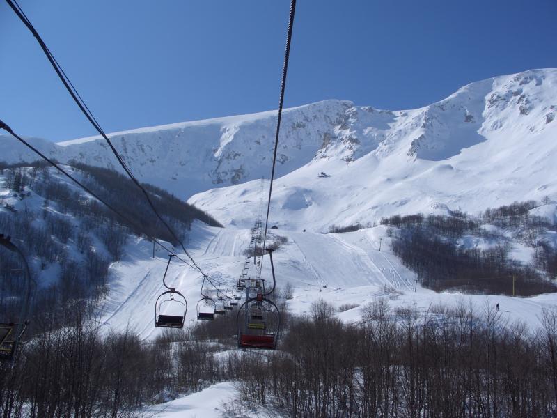 Winterskiing fun - view from a Savin Kuk chair lift - starts only 250m walk away