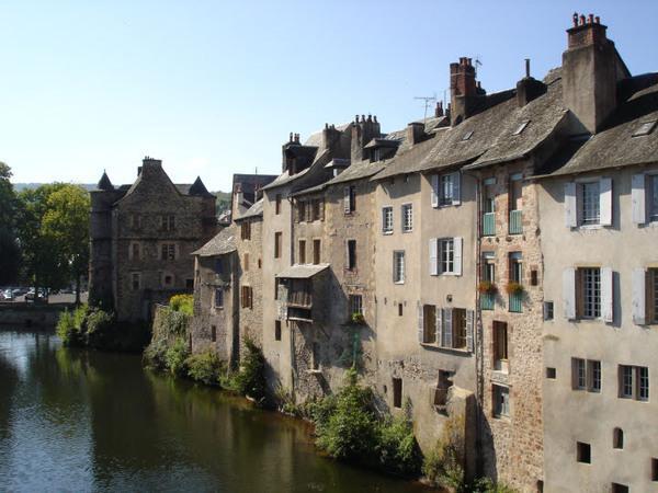 Medieval buildings at Entraygues-sur-Truyère