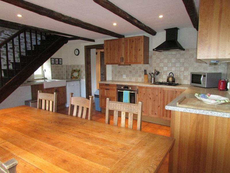 Large kitchen diner.