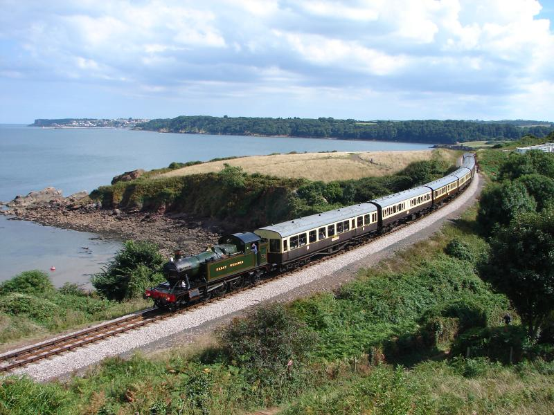 Paignton to Dartmouth steam railway