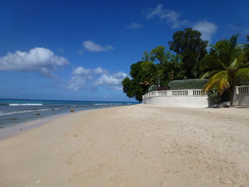 Sandy Lane Beach a few minutes walk