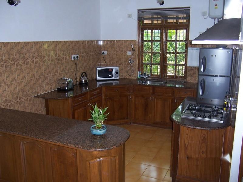 Solid Teak Open Plan Kitchen fully equipped