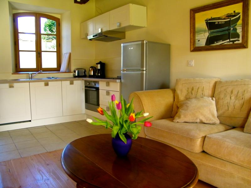 Fully equipped kitchen (dishwasher, cooker, oven, fridge/freezer and washing machine/dryer)