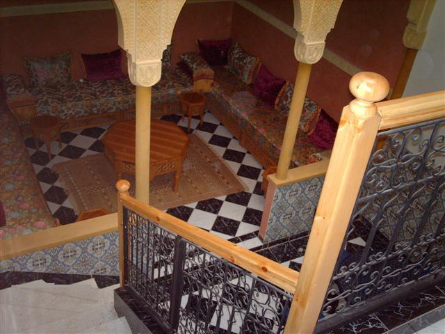 Moroccan Living room from stairs