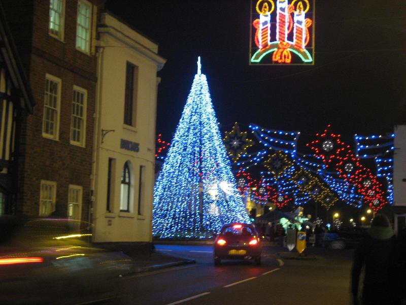 Magical Christmas with street market and lights in Stratford-upon-Avon