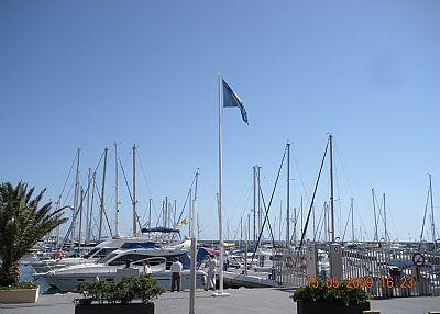 The marina in Caleta.