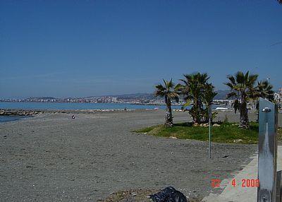 The beach at Algarobbo.