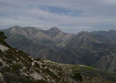 A view of the mountains near Competa.