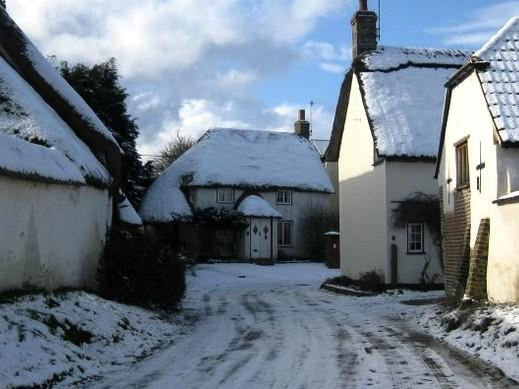 Swallows Cottage in winter