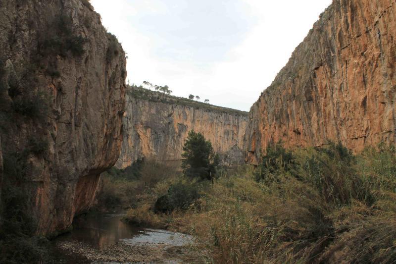 Turia river Canyon view