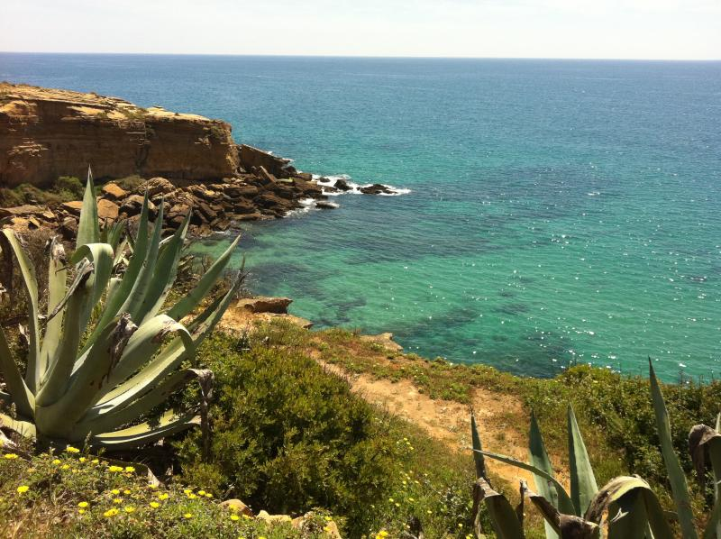 View from cliff top walk Burgau to Luz