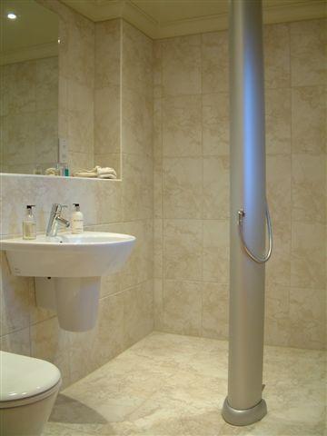 Wet room with Columnar Power shower