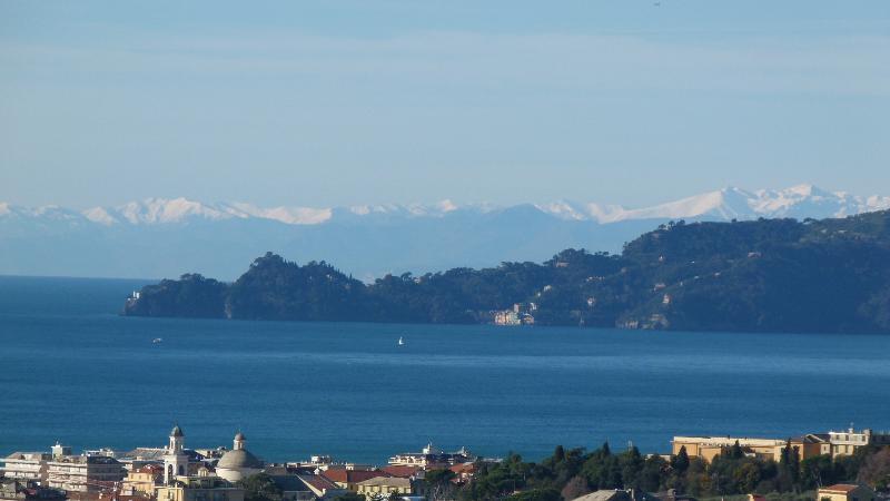 Vista sul Golfo del Tigullio e promontorio di Portofino