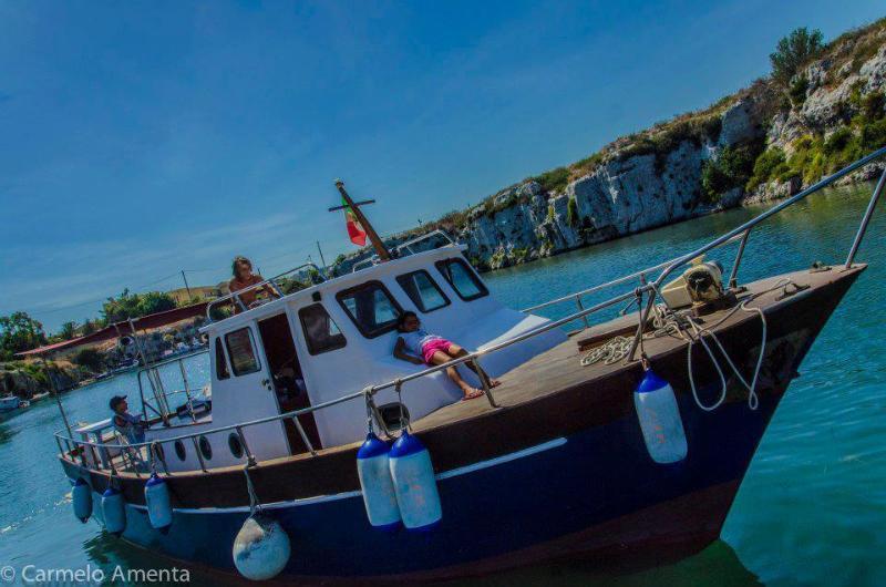 Clem al canale di Brucoli......