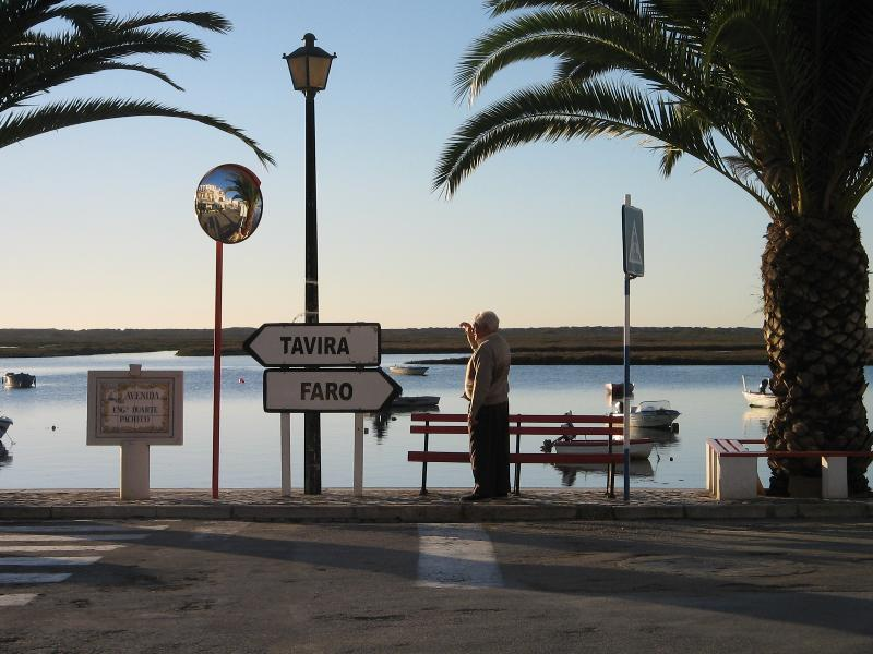 Early morning on the esplanade at Santa Luzia