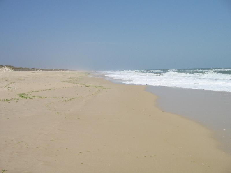 Endless sandy Beach at Santa Luzia