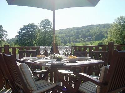 The perfect spot for a meal. Relax & Unwind and take in the beauty of Troutbeck Valley
