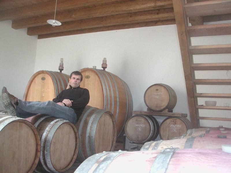 The barriques where the wine age