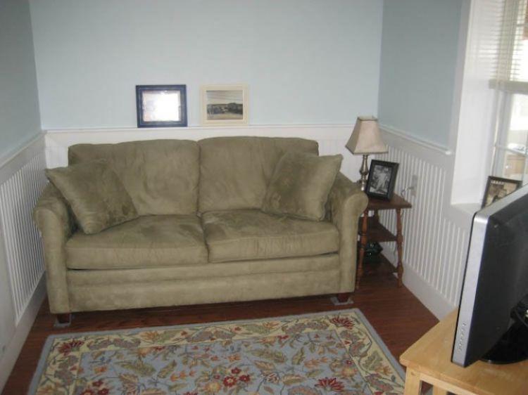 Living Room w/ full sleep sofa