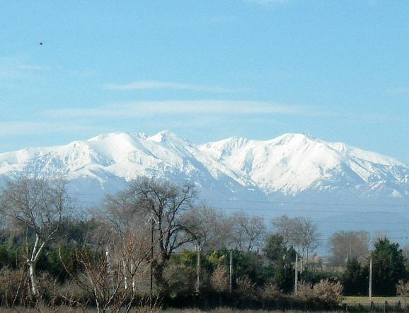 Mount Canigou dominates the region